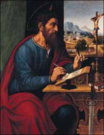 Pier Francesco Sacchi (c. 1485-1528), Saint Paul Writing (1520s)