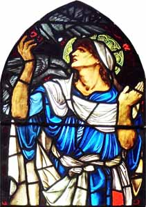 Edward Burne-Jones, 'Elijah the Prophet' (1897), stained glass, St. Martin's Church, Bramton, Cumbria, England.